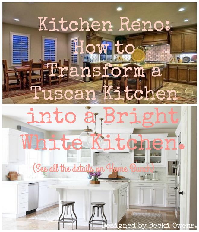 Kitchen Reno Transform A Tuscan Into Bright White Home Bunch Interior Design Ideas