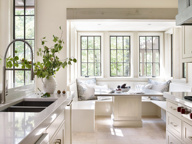 Kitchen with banquette. Kitchen with banquette area. Kitchen with banquette breakfast nook. #Kitchen #banquette Jeffrey Dungan Architects