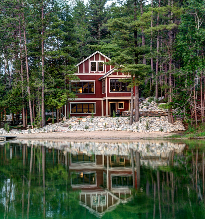 Lake House. Lake house in the woods. Lake house. lake Cabin. #Lakehouse BAC Design Group