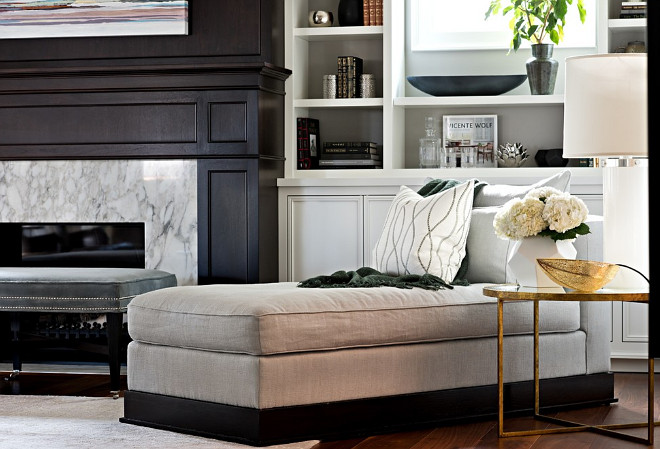 Living Room Chaise. Living Room Chaise Ideas. Where to place a chaise in the living room. #LivingRoom #Chaise Elizabeth Metcalfe Interiors & Design Inc.