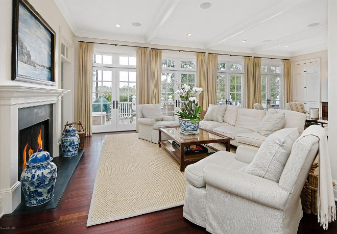 Living Room French door and Transoms. Living Room French doors and Transoms. Neutral Living Room French doors and Transoms #LivingRoom #FrenchdoorsTransoms Christie's Real Estate