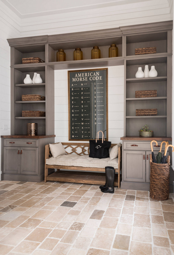 How to design a non white kitchen bell custom homes Mudroom floor
