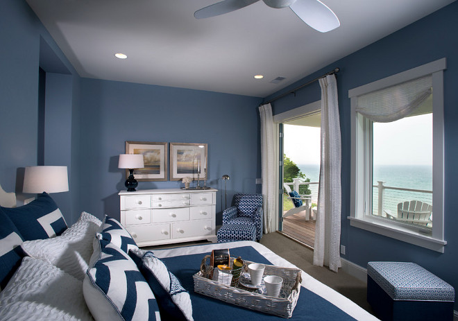 Navy paint color. Navy bedroom. #navy #navybedrooom #navypaintcolor