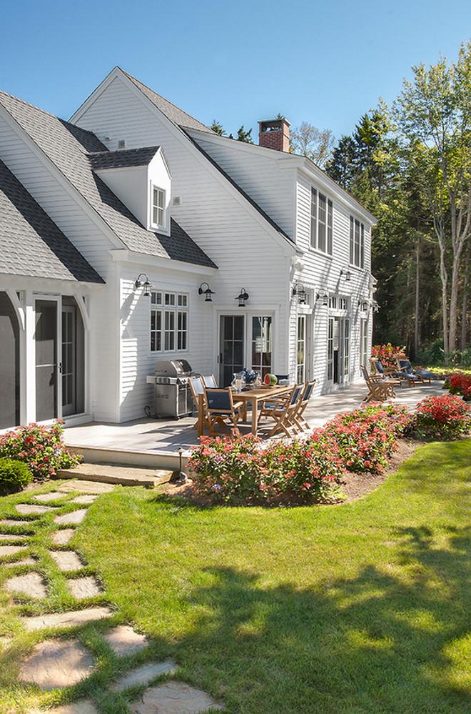 Maine Beach House with Classic Coastal Interiors - Home ... on Beach House Patio Ideas id=41223