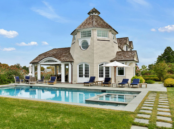 Pool House. Pool House design ideas and photos. Pool House design ideas and photos #PoolHouse