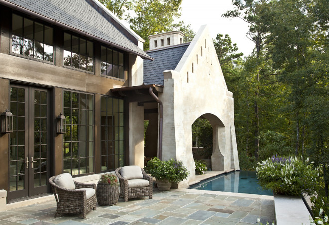 Pool and Patio with Bluestone. #Bluestone Jeffrey Dungan Architects