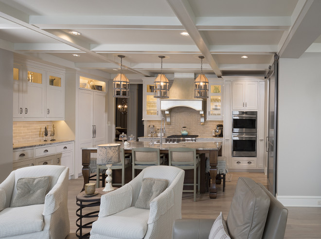 Benjamin Moore Revere Pewter Living Room neutral kitchen reno with a rustic touch  home bunch interior