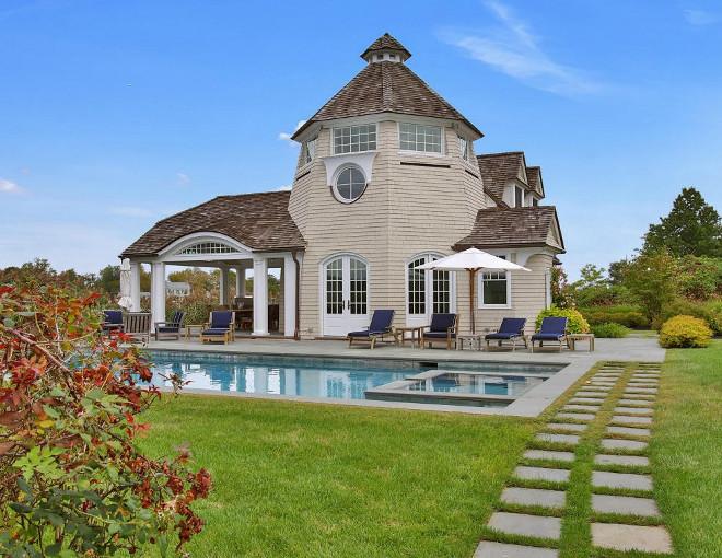 Shingle Pool House. Shingle Pool House. Shingle Pool House Design Shingle Pool House Ideas #ShinglePoolHouse Christie's Real Estate