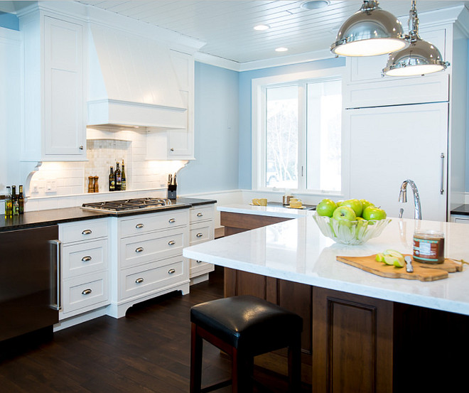 Blue kitchen paint colors home decor Blue kitchen paint color ideas