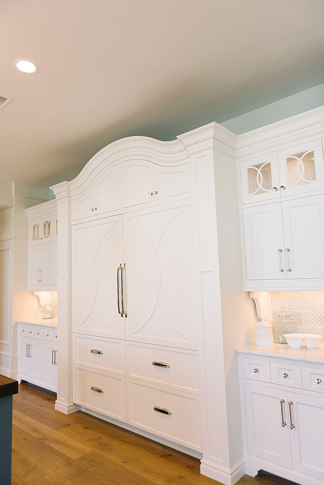 White Dove by Benjamin Moore Kitchen Cabinet Paint Color. Four Chairs Furniture.
