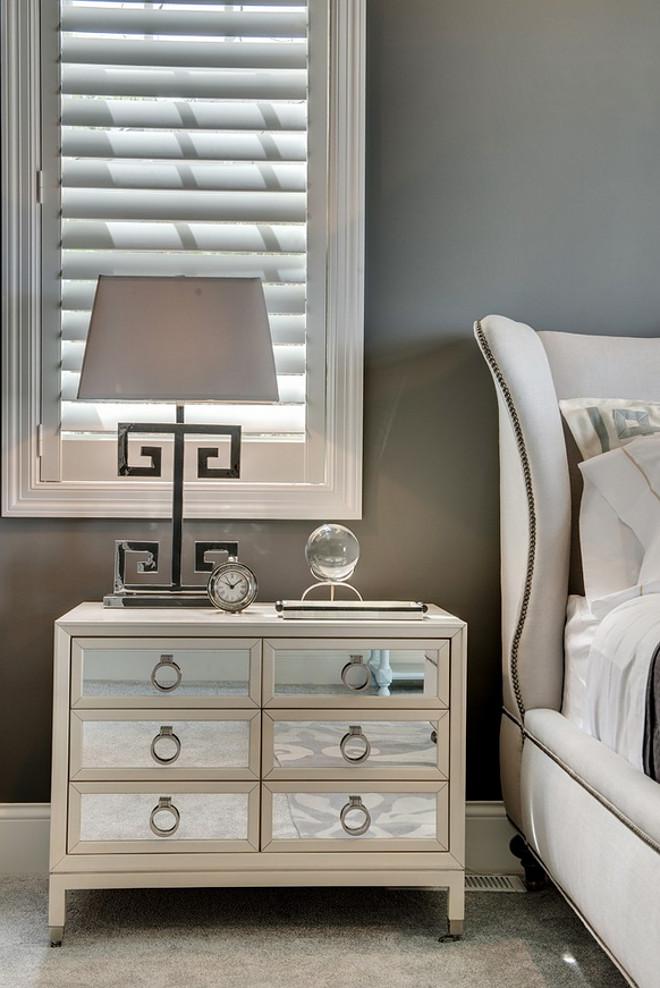 Bedroom Nightstand. Mirrored 6 drawers Bedroom Nightstand. Bedroom Nightstand. Bedroom Nightstand. Bedroom Nightstand #BedroomNightstand #nightstand #mirrorednightstand #nightstandideas Grace Hill Design. Gordon James Construction.