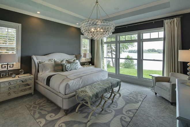 Charcoal Bedroom. Charcoal Bedroom. Charcoal Master Bedroom. Charcoal Bedroom Paint Color and Decor Ideas. #CharcoalBedroom #CharcoalMasterBedroom #CharcoalBedroomdecor #CharcoalBedroompaintcolor Grace Hill Design. Gordon James Construction.