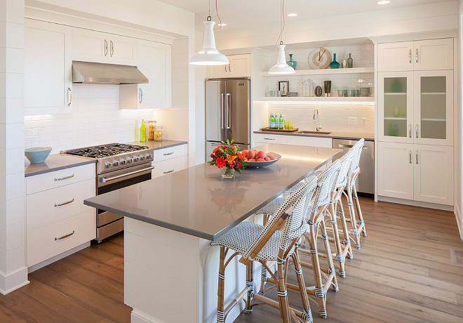 Gray quartz countertop. Kitchen Gray quartz countertop. White kitchen with gray quartz countertop. Kitchen Gray quartz countertop. #KitchenGrayquartzcountertop #Grayquartzcountertop #Grayquartz #countertop Francesca Owings Interior Design