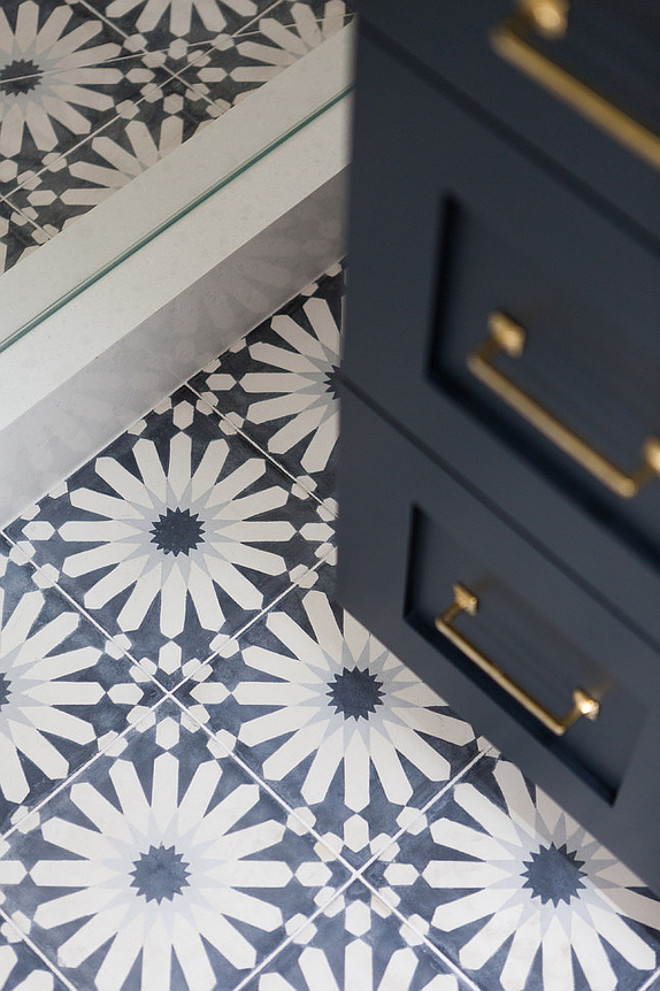 Hand-made Cement Tiles. Hand-made Cement Tile Ideas. Hand-made Cement Floor Tiles. The tiles are from Ann Sacks, the tile is called Eastern Promise in Tangier Pallazzo. #HandmadeCementTiles Holst Brothers General Contractors. Kirsten Marie Inc, KMI