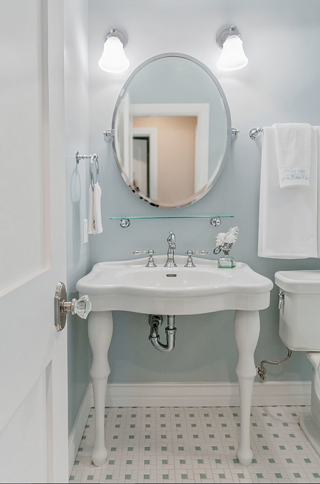 Blue gray bathroom paint color. The wall paint is from Dunn-Edwards Paints, color: DE6317 Mount Sterling. Dunn Edwards DE6317 Mount Sterling. Dunn Edwards DE6317 Mount Sterling. Dunn Edwards DE6317 Mount Sterling #DunnEdwardsDE6317MountSterling QualCraft Construction Inc