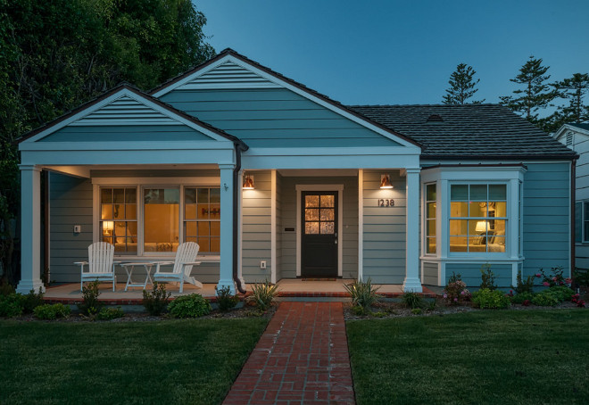 Gray exterior white trim. Gray exterior white trim paint color. Gray exterior white trim paint color ideas. Gray exterior white trim. The paint colors used on the exterior are from Dunn-Edwards Paints: Color: DE6318 Lake Placid for the exterior siding and DEW380 White for the exterior trim. #Grayexteriorwhitetrim QualCraft Construction Inc.