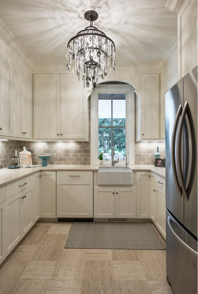 Pale Gray Backsplash. Ivory cabinets with pale gray backsplash. Pale Gray Backsplash Tile. Pale Gray Backsplash Tiling. Pale Gray Backsplash Ideas #PaleGrayBacksplash #PaleGrayBacksplashIdeas #PaleGrayBacksplashTiling #PaleGrayBacksplash Alexander Design Group, Inc