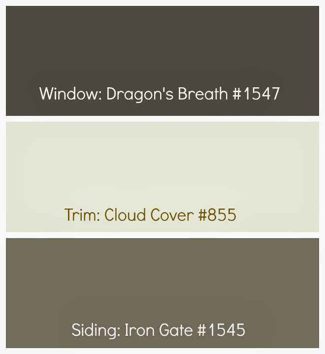 Home Exterior Color Palette. Home exterior color palette ideas. Window paint color Benjamin Moore Dragons Breath 1547. Trim Paint Color is Benjamin Moore Cloud Cover OC-25. Siding Paint Color is Benjamin Moore Iron Gale 1545. #Homeexteriorpaint #Homeexteriorcolorpalette #BenjaminMooreDragonsBreath1547 #BenjaminMooreCloudCoverOC25 #BenjaminMooreIronGale1545 Drewry Exterior Paint