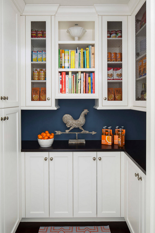 Kitchen pantry cabinet. Kitchen pantry with built in cabinet. Kitchen pantry features lower and upper cabinets. #Kitchenpantry #Pantrycabinets #pantry #pantrycabinetideas #pantryideas Martha O'Hara Interiors