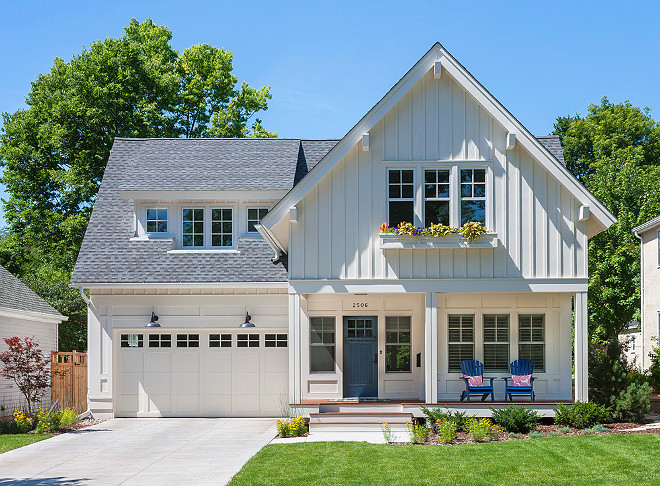 White Farmhouse exterior. White Farmhouse exterior. White Farmhouse exterior. White Farmhouse exterior. White Farmhouse exterior #WhiteFarmhouse #WhiteFarmhouseexterior #farmhouse #homexterior #Farmhouseexterior Elevation Homes.