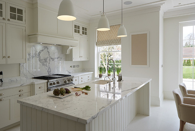 Hand Painted Kitchen in Cool Whites. Hand Painted Kitchen in Cool Whites. Beautiful Kitchen Hand Painted Kitchen in Cool Whites #HandPaintedKitchen #CoolWhites Mark Wilkinson Kitchens, Harrogate
