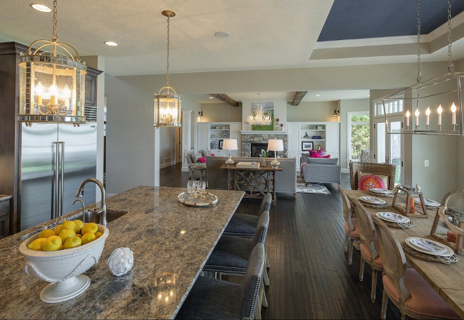 Granite Countertop. Kitchen Granite Countertop. Gray kitchen with granite countertop. Granite. Countertop #Granite #Countertop #Kitchen #KitchenGranite #KitchenCountertop #Kitchengranitecountertop Grace Hill Design. Gordon James Construction.