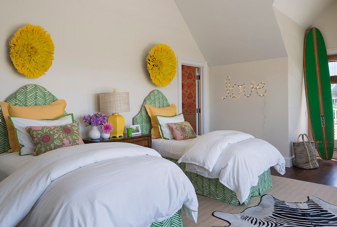 Bedroom Ideas. Quadrille fabric, schumacher fabric. Serena and Lily. Wallpaper. zebra rug Kate Jackson Design