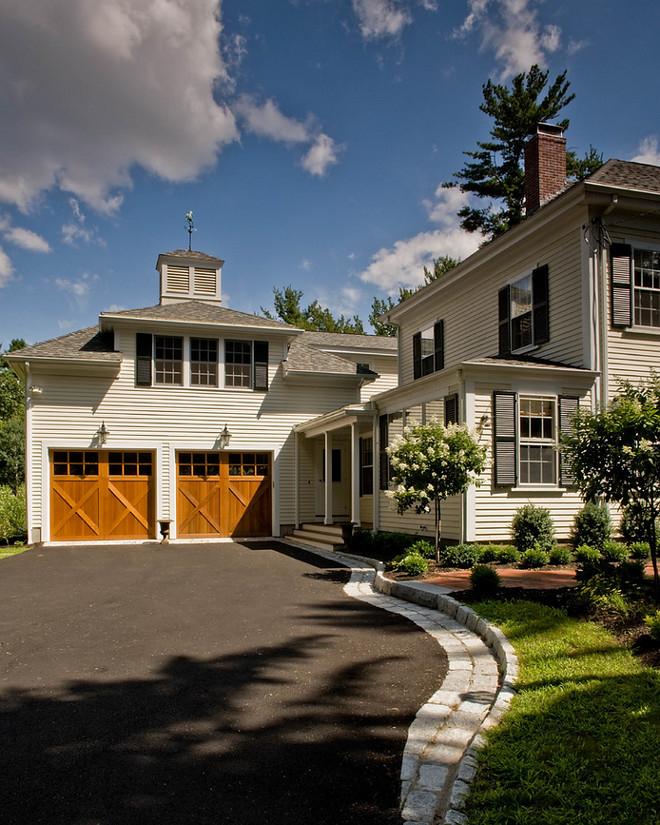 Carriage Style Garage Doors. Barn door style garage door ideas. Carriage Style Garage Doors. Carriage Style Garage Doors #CarriageStyleGarageDoors #CarriageGarageDoor David Sharff Architect, P.C.