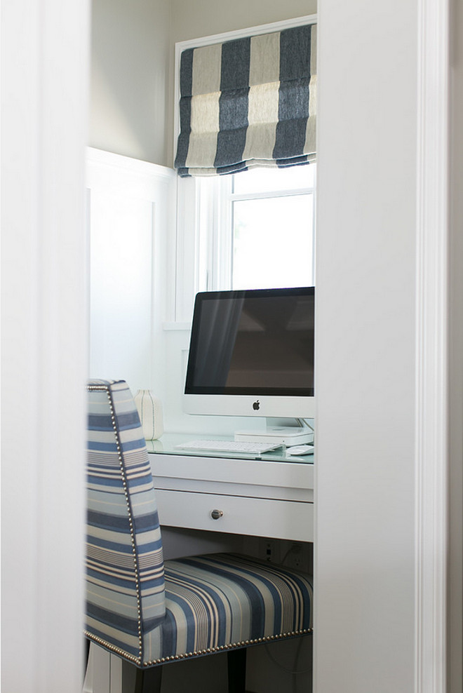 Desk Nook. Desk Nook off the kitchen. Built in Desk Nook #DeskNook.