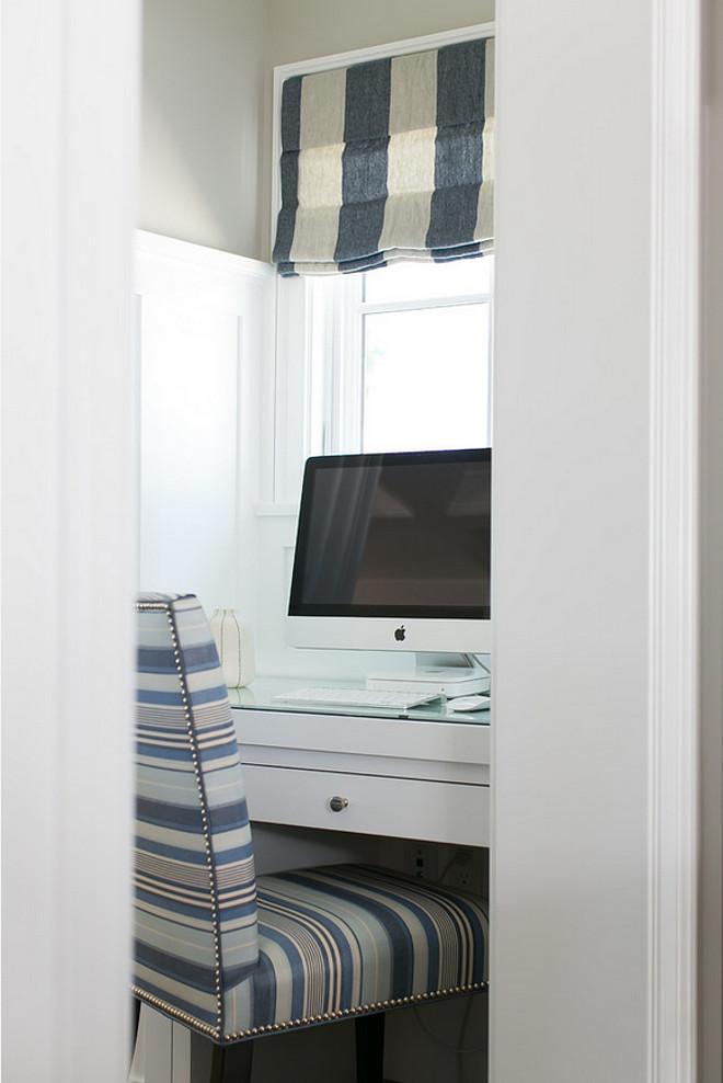 Desk Nook. Desk Nook off the kitchen. Built in Desk Nook #DeskNook.