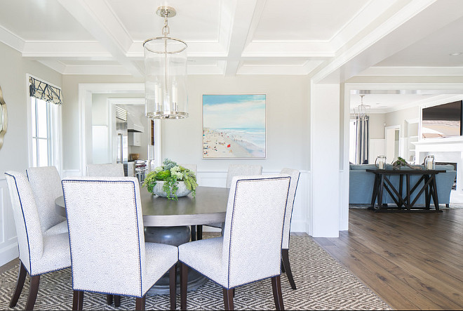 Dining room layout. Dining room is just off the kitchen and family room. Dining room layout ideas #diningroom #DiningRoomLayout Brooke Wagner Design