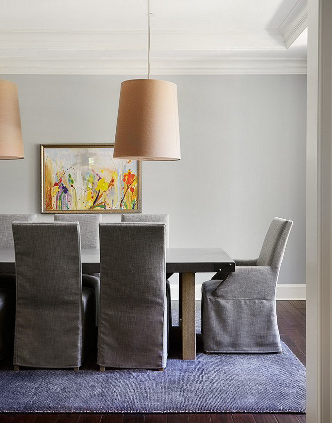 Dining Room. Gray Dining Room. Gray Dining Room Paint Color.