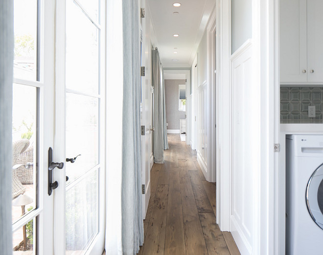 Hall Millwork. Gorgeous white millwork down this hall #Hall #Millwork