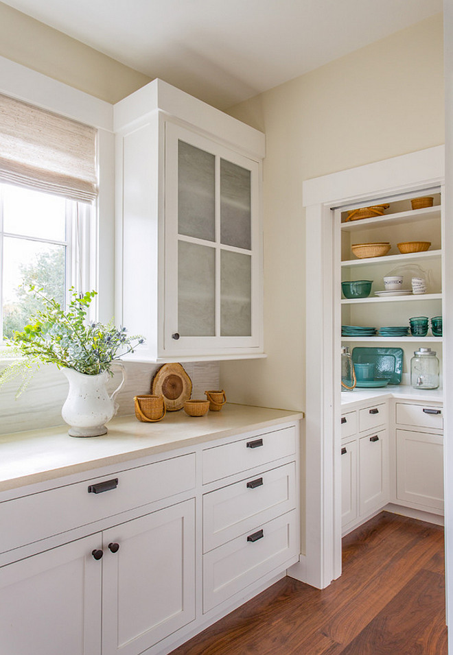 Kitchen pantry. Kitchen opens to small pantry. Kitchen to pantry transition ideas. Kitchen pantry. #kitchen #pantry #Kitchenpantry Martha's Vineyard Interior Design