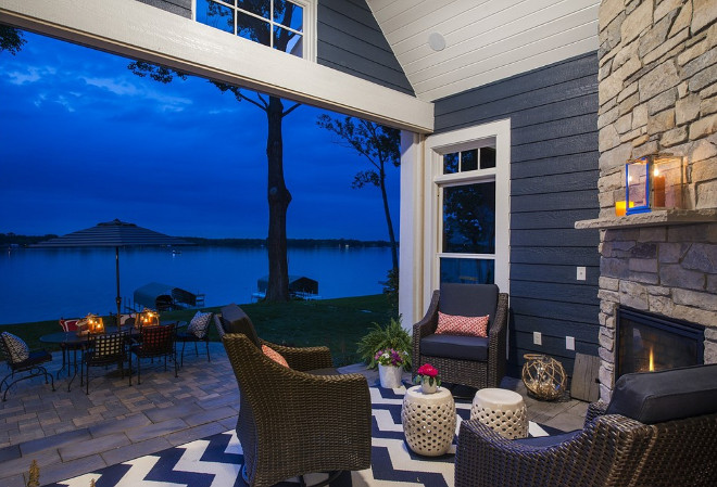 Lakehouse backyard. Grace Hill Design. Gordon James Construction.