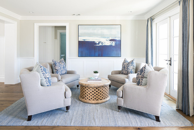 Living Room Chairs. Living room chair. Choose a group of chairs together with a round coffee table to create a conversation area. #Livingroom #Chairs #Livingroomchairs Brooke Wagner Design