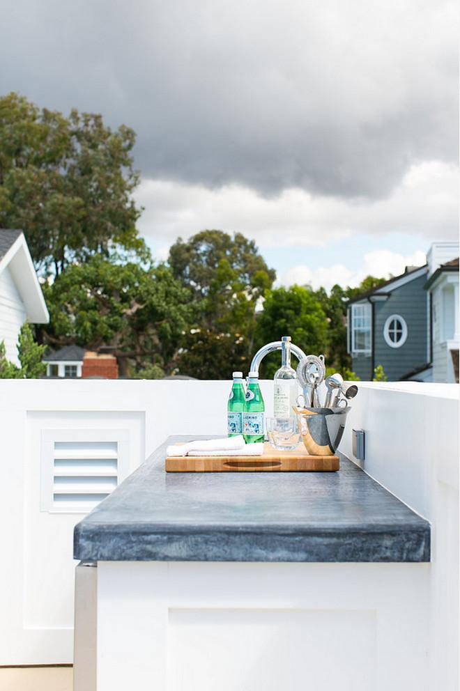 Outdoor Kitchen Countertop. Outdoor Kitchen Countertop Ideas. Outdoor Kitchen Countertop is Stained Concrete. #OutdoorKitchenCountertop #StainedConcrete #StainedConcreteCountertop