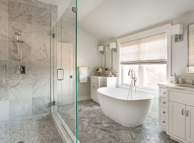 Pale gray bathroom. Timeless color scheme for bathrooms. Pale gray bathroom color scheme. #Palegraybathroom #Palegraybathroomcolorscheme #bathroomcolorscheme #palegray #graybathroom