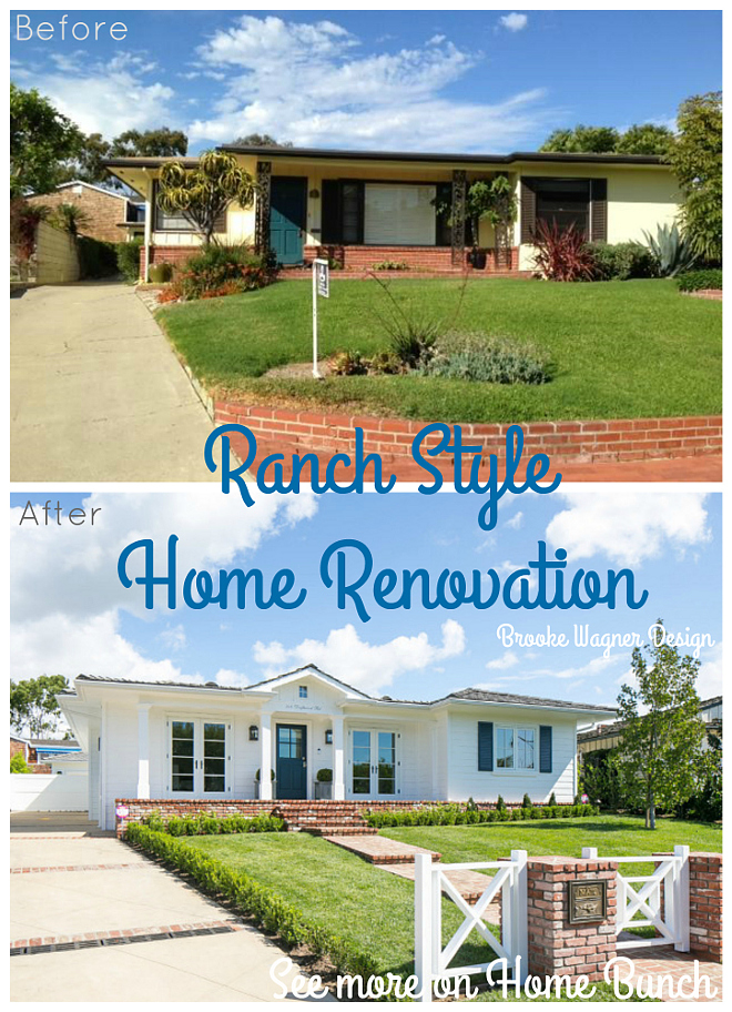 ranch style house remodel before and after home redesign Ranch Style Home Renovation