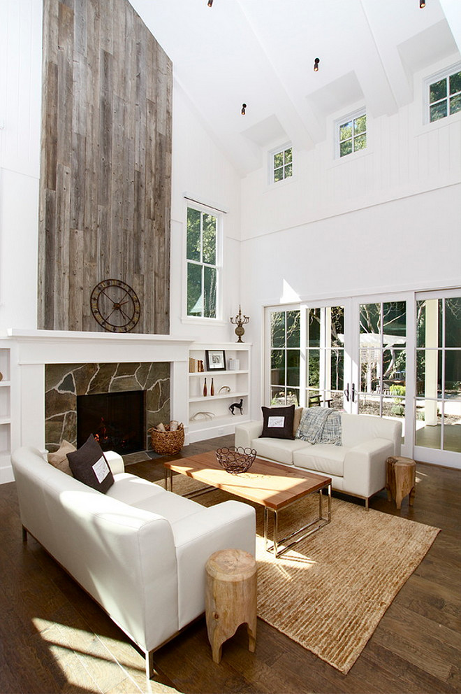 Reclaimed Wood Fireplace. Reclaimed Wood Fireplace Ideas. Using reclaimed barnwood on fireplace. Reclaimed Wood Fireplace #ReclaimedWood #Fireplace #ReclaimedWoodFireplace KCS, Inc.