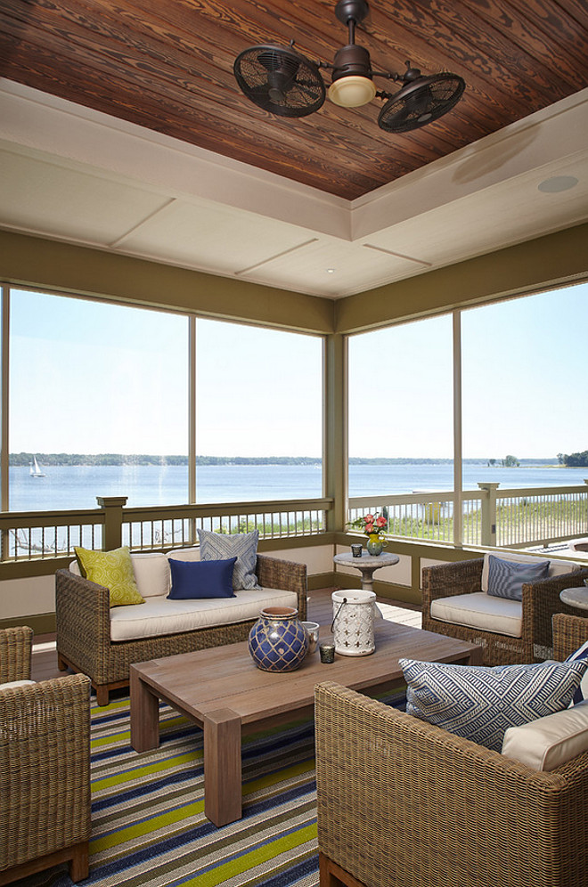 Screened in porch. Screened in porch remodel. Screened in porch ideas. Screened in porch fan. Screened in porch lighting. Screened in porch furniture. #Screenedinporch Francesca Owings Interior Design
