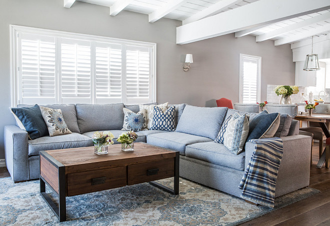 Small Living Room Painted In Benjamin Moore Baltic Grey.  #BenjaminMooreBalticgrey #SmallLivingroom Dannielle Albrecht Great Ideas