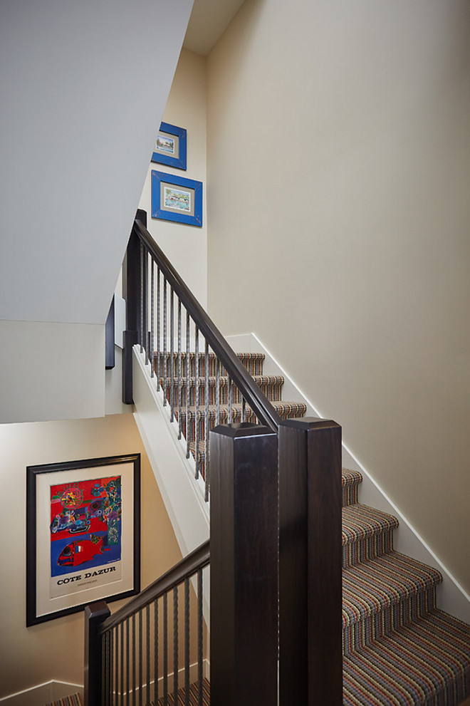 Staircase Carpet. This staircase carpet is durable and wouldn't look dirty. #Staircase #Carpet #StaircaseCarpet Mike Schaap Builders