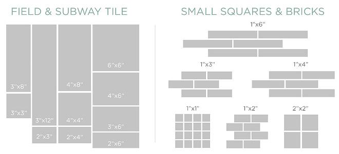 Tile Pattern. Tile Pattern and Sizes. Tile Pattern and Size Ideas. Tile Pattern and Sizes. Subway tile Small Bricks Compare #TilePatternSizes