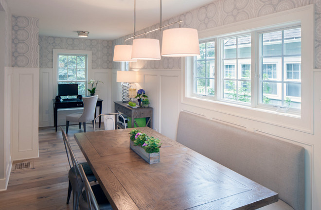 Dining Room Wainscoting Banquette. Dining Room. Banquette. Wainscoting. Dining Room features wainscoting and banquette. Dining Room banquette. Dining Room Wainscoting. #DiningRoom #banquette #wainscoting #diningroombanquette #diningroomwainscoting Francesca Owings Interior Design