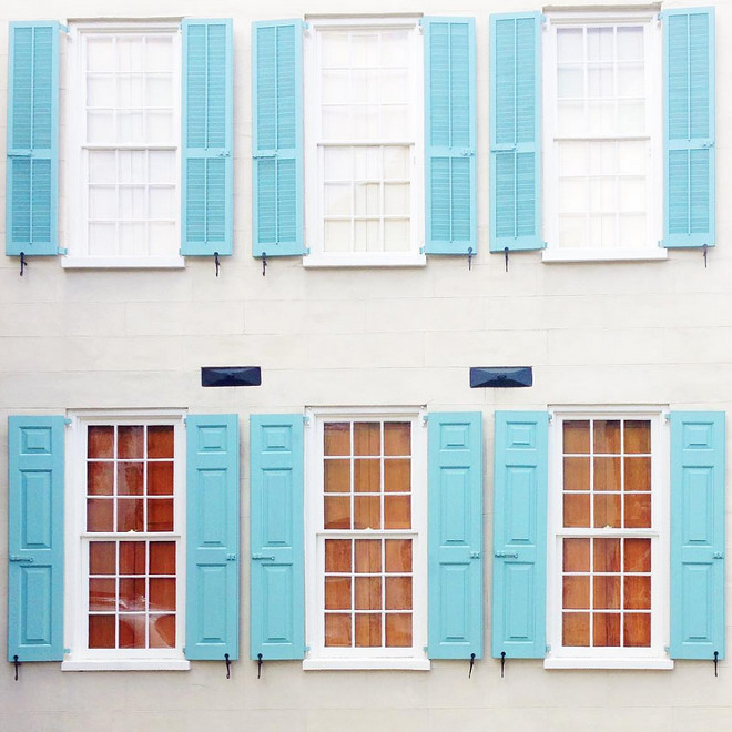 Turquoise Shutters. Turquoise Shutters Paint Color. Turquoise Shutters. Turquoise Shutters paint color is Farrow and Ball, Number 210, Blue Ground. #FarrowandBall210BlueGround #FarrowandBallBlueGround #Turquoiseshutterspaintcolor #shutters #turquoiseshutters Farrow and Ball #210 Blue Ground. The Cassina Group Real Estate