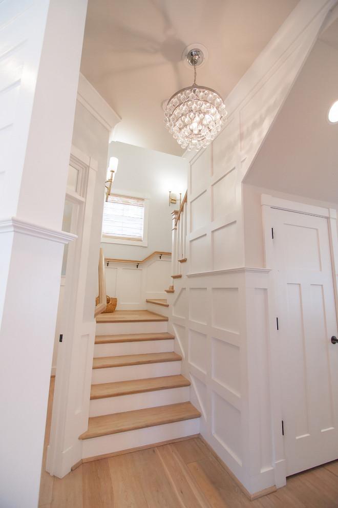 Stairway Wainscoting. Stairway Wainscoting Ideas. Stairway Wainscoting and Flooring. Stairway Wainscoting Height. Stairway Wainscoting #StairwayWainscoting