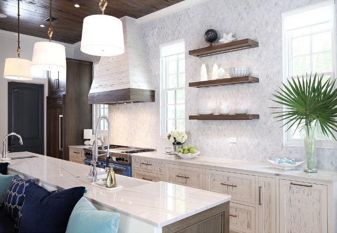 <Kitchen Floating Shelves> Kitchen Floating Shelves. Kitchen Floating Shelving #KitchenFloatingShelves Old Seagrove Homes