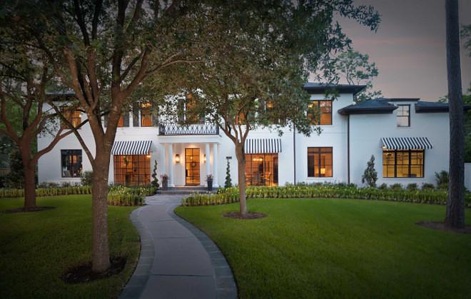 Home exterior. Home exterior. White brick Home exterior. White brick exterior #home #homeExterior #whitebrickexterior #brickexterior Elizabeth Garrett Interiors