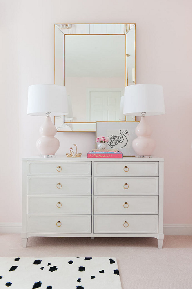 Nursery Dresser. Nursery dresser is Tatum Wide Dresser in Brushed White from Restoration Hardware Baby and Child. #NurseryDresser #Nursery #Dresser #WhiteDresser Interiors by Luxe Report Designs.